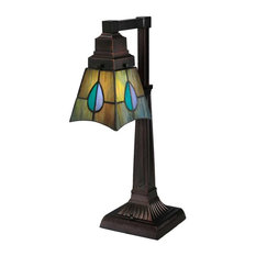"""Meyda 19.5"""" Mackintosh Leaf Desk Lamp"""