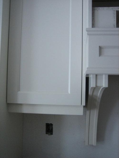 Flush Valance On Frameless Cabinets