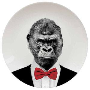 Wild Dining Plate, Gorilla