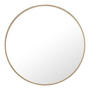 "Elegant Eternity Metal Frame Round Mirror 24"" Brass Finish"