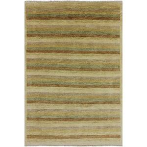 Jaipur Rugs Flatweave Stripe Pattern Gray Ivory Wool Area