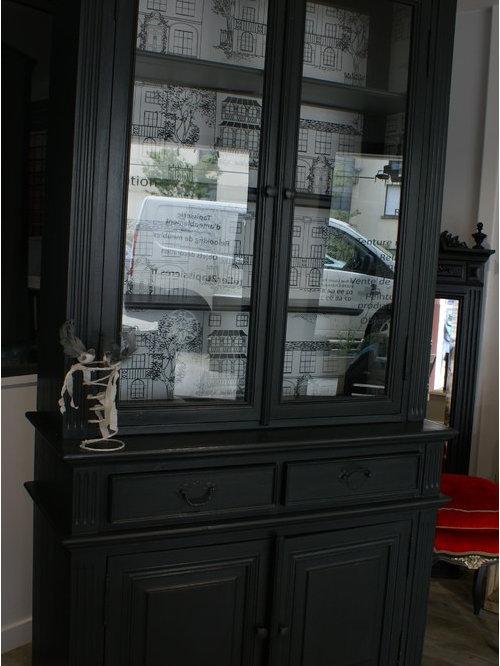 relooking d 39 un vaisselier 2 corps vitr. Black Bedroom Furniture Sets. Home Design Ideas