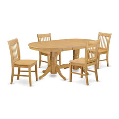 5-Piece Dining Room Set Table And 4 Kitchen Chairs Without Cushion