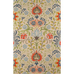 Momeni - Newport Multi Rug, 9'x12' - The Newport Wool Rug is hand-hooked using pure wool. Combining cozy cottage florals with modern details, this rug brings whimsical color to your design and protects your floors with chic style.