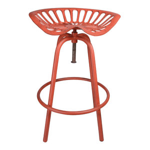 Esschert Design Tractor Seat Chair, Red