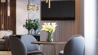 Дизайн современной кухни в трерхкомнатной квартире