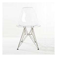 Paris Tower Acrylic Dining Side Chair (Set Of 2)-Clear