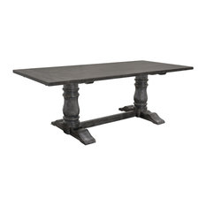 Lisa Rustic Smoked Gray Rectangular Dining Table