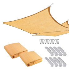 12'x12' Uv Proof Square Sun Shade Sail Cover, Set of 2, Sand
