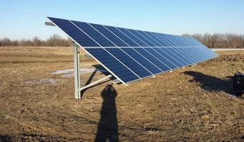 Ground mount solar array in Warrensburg, Missouri