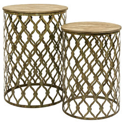 Mediterranean Side Tables And End Tables by GwG Outlet