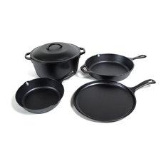 Lodge Logic Pre-Seasoned Cast Iron 5 Piece Cookware Set
