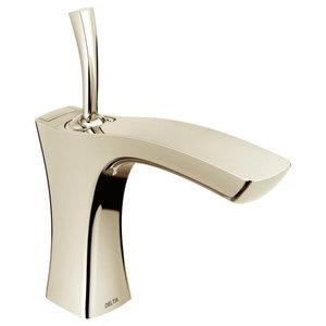 Delta Tesla Single Handle Faucet, Metal Pop-Up, Polished Nickel, 552LF-PNMPU