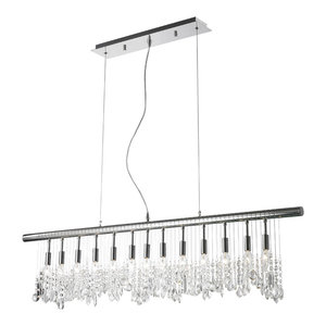 Modern Rain Drop Chandelier With Crystal Balls Traditional Chandeliers By Gallery