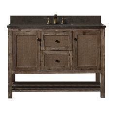 """Legion Furniture Legion Furniture Single Sink Vanity, Rustic Brown, 48"""""""