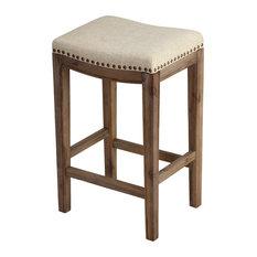 "Cortesi Home Logan 24"" Counter stool, Beige Linen"