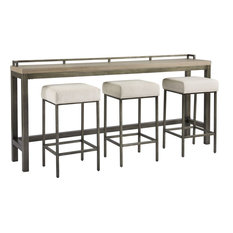 Universal Furniture Curated Mitchell Console Table With Stools, Greystone