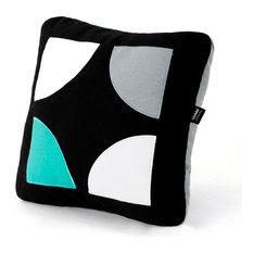 - Jade green Geometric - Cojines decorativos