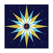"6""x6"" Earth Quads Satin Decorative Tile, Mod Dew Green, Set of 4"