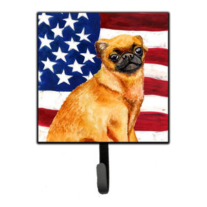 Brussels Griffon Patriotic Leash Or Key Holder Bb9687sh4 Contemporary Wall Hooks By The Store
