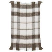 Oak Throw Blanket, Medium Gray/Cream