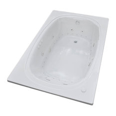 Caravaggio 48 x 78 Air & Whirlpool Drop-In Bathtub - Center Drain - Right Pump