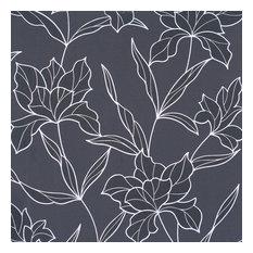 Bloom Black Wallpaper, Sample
