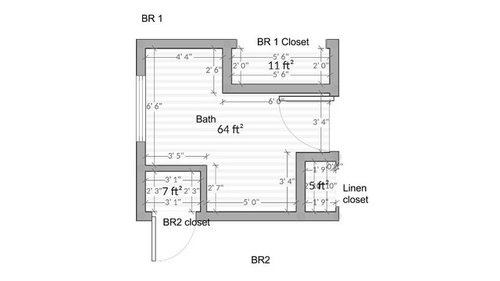Make Bathroom Smaller For Bigger Bedroom What To Do With Window