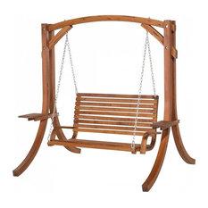 Novara Brown Wooden Garden Swing