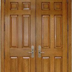 Homestead Doors, Inc   Arch 8 Panel White Oak Solid Wood Double Door