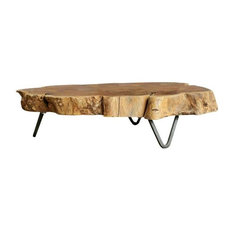 20lx13wx5h Raw Edged Wood Slab W Metal Feet
