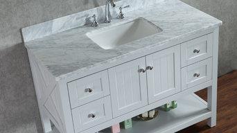 "NEW 48"" Emily Bathroom Vanity - Light Grey"