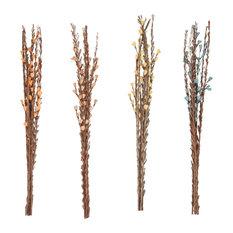 "Set of 4 Natural 39"" Dried Plant Decorative Sticks"