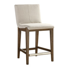 Uttermost - Klemens Light Taupe Linen Counter Stool - Bar Stools and Counter Stools