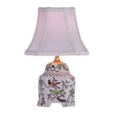Birds and Branches Porcelain Table Lamp