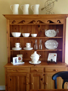 Stunning The hutch a dresser and an armoire have e in handy for over flow kitchen storage in the family room which is open to the kitchen