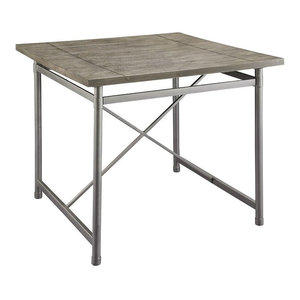 """ACME Kaelyn II 42"""" Square Counter Height Dining Table in Gray Oak"""