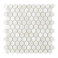 "11.5""x11.75"" Caspian Mother of Pearl Mosaic Tile Sheet"