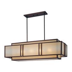 Metropolitan N6959 Underscore 4 Light 1 Tier Linear Chandelier