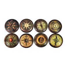 8 Piece Set Vintage Compass Cabinet Knobs