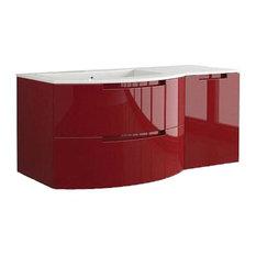 "Latoscana Oasi 53"" Modern Red Glossy Bathroom Vanity"