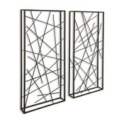 Contemporary Metal Wall Sculpures, Set of 2