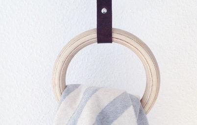 diy kreativer k chenrollenhalter mit lederb ndern. Black Bedroom Furniture Sets. Home Design Ideas