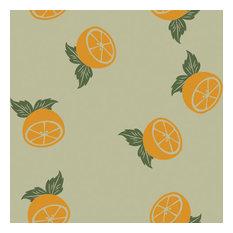 Orange Halves Shelf Paper Drawer Liner, 120x24, Laminated Vinyl