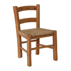 Straw Seat Children's Chair, Dark Brown