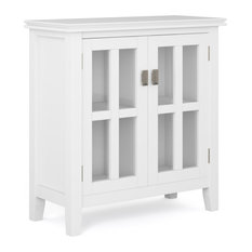 Artisan Solid Wood Low Storage Cabinet White