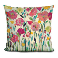 She Lived In Full Bloom Decorative Accent Throw Pillow