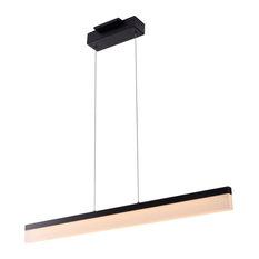 "Procyon 36"" Integrated LED Linear Chandelier, Black"