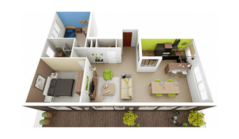 HOME-STAGING 3D® - APPARTEMENT 75m²