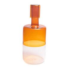 Cylinder Amber Bottle